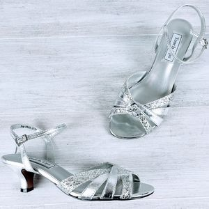 Touch Ups Silver Heel Sandals nwot